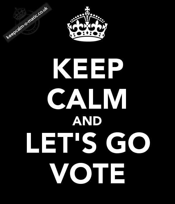 keep calm and lets vote